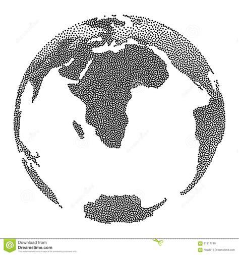 dot pattern globe dotwork halftone vector earth globe stock vector image