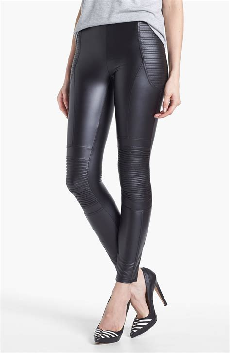 faux leather minkpink vroom vroom faux leather leggings in black lyst