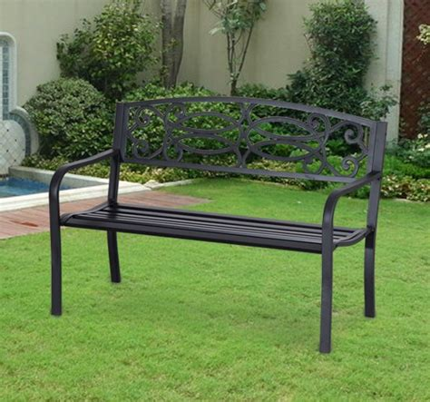 decorative garden benches outsunny 50 quot flowering pattern decorative patio garden bench