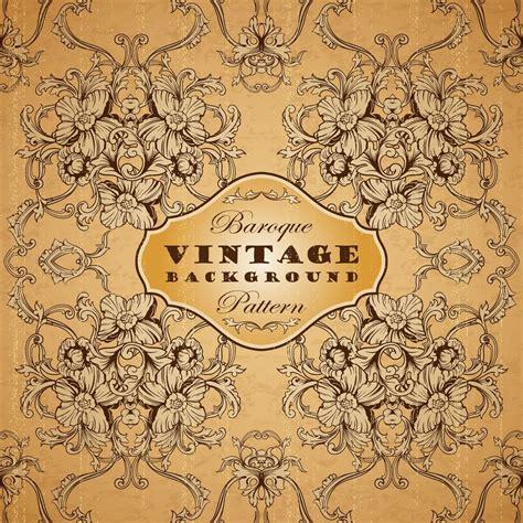 vintage pattern photoshop brushes vintage background with baroque pattern photoshop