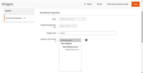 magento custom layout update javascript magento 2 orders and returns widget tutorials mageplaza