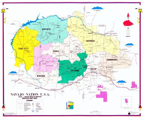 arizona indian tribes map navajo area indian health service ihs