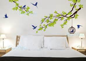 Vinyl wall decals tree birds wall decal wall art sticker nature wall