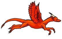 red dragon running animated by racieb on deviantart