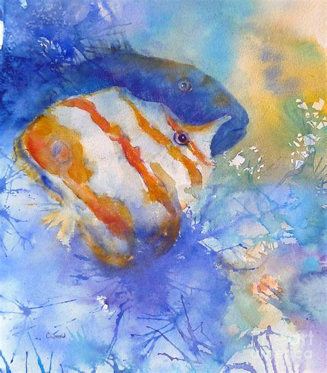 two tropical fish painting by carolyn jarvis
