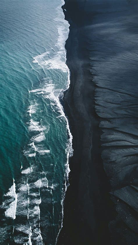 black sand beaches places     nature