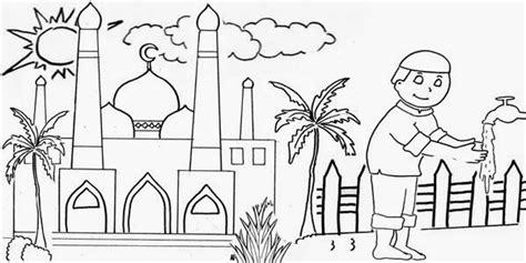 gambar animasi keren gambar animasi kartun mesjid untuk mewarnai