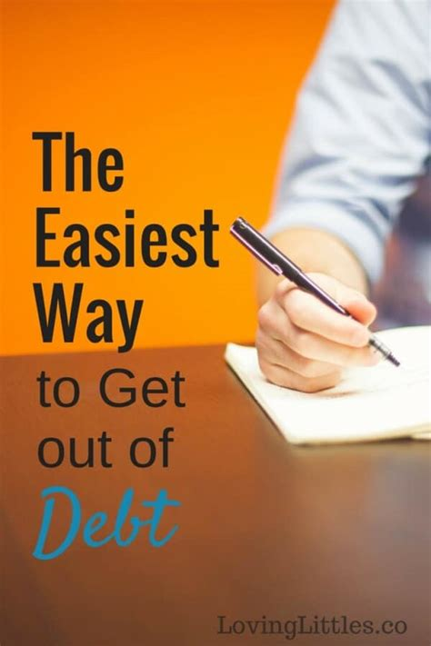 Easy Ways To Get Into Debt by The Easiest Way To Get Out Of Debt Loving Littles