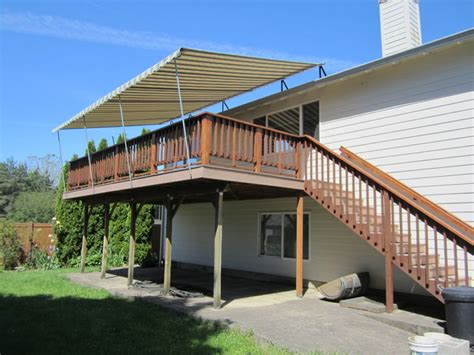 awnings for deck deck pipe frame canopy traditional deck portland