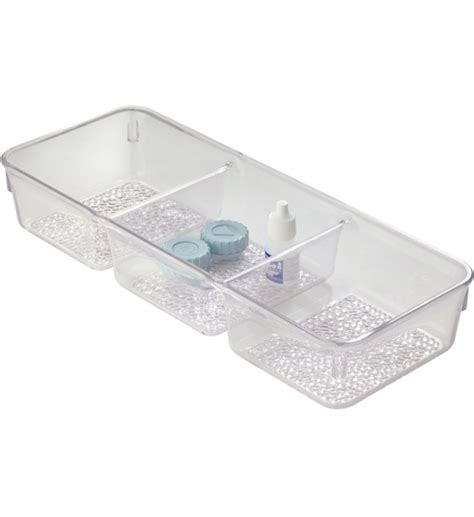 Bathroom Organizer Tray Cosmetic Organizer Tray Three Section In Cosmetic Drawer Organizers