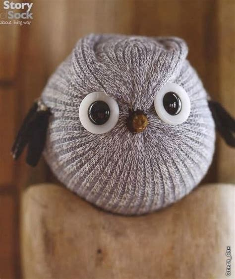 pattern for owl socks diy sock owl could be other bird as well crafts