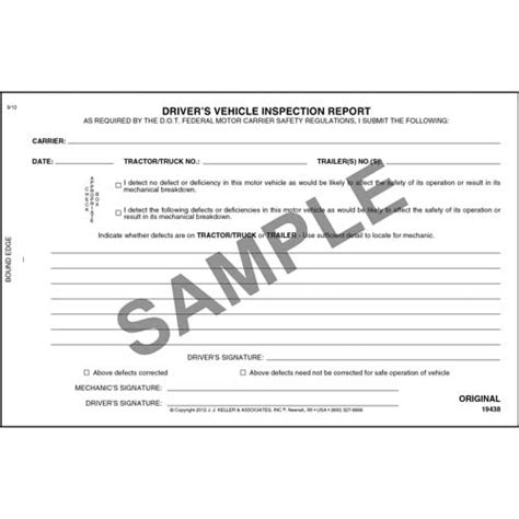 vehicle inspection report book simplified driver s vehicle inspection report 3 ply