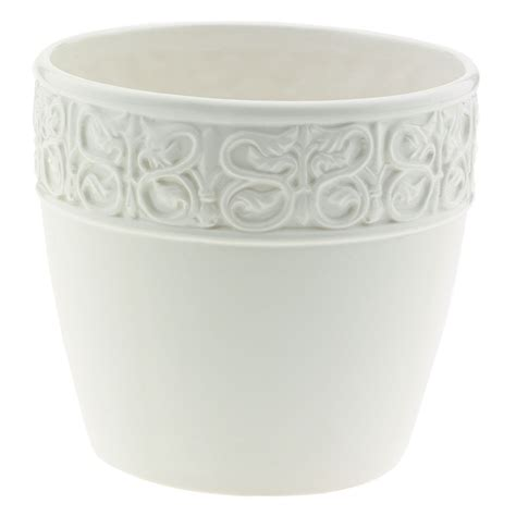 Decorative Ceramic Planters by White Ceramic Flower Pots