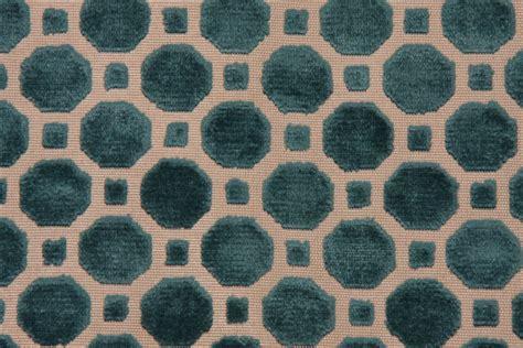 robert allen upholstery robert allen velvet geo upholstery fabric in turquoise