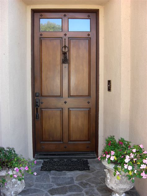 front wooden door faux doors