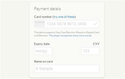 Credit Card Form Validation Jquery 5 Free Jquery Credit Card Form Plugins And Validators Designbeep