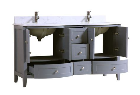 bathroom vanities double sink 60 inches 60 inch double sink bathroom vanity cabinet grey with