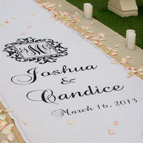 Wedding Aisle Runner Monogram by Logo Monogram Wedding Aisle Runner Aisle Runners