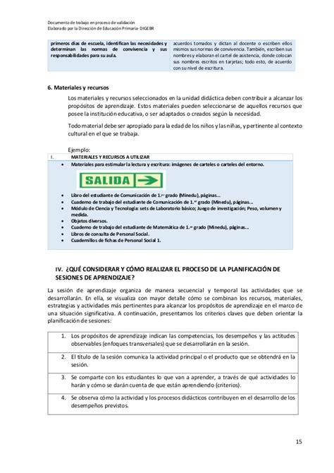 Diseño Curricular Por Competencias Minedu Cartilla Planificaci 243 N Curricular 2017 Minedu