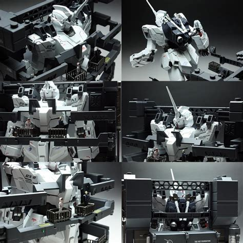 mg  rx  unicorn gundam hd color ms cage bandai gundam models kits premium shop