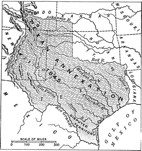 map of texas annexation texas annexation