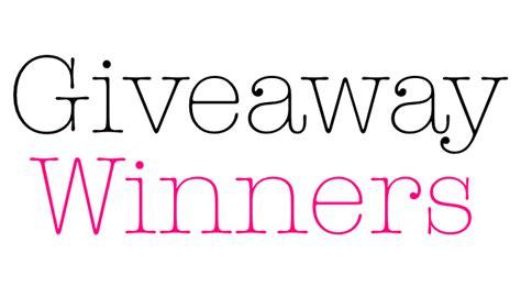 Giveaway Winner - giveaway winners mikhila com