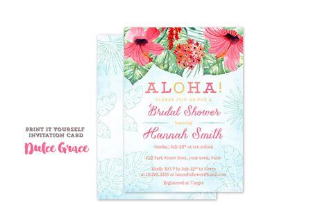 Luau Wedding Shower Invitations by Luau Bridal Shower Invitations Aloha Wedding Shower Invites