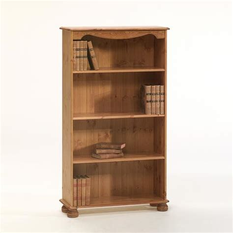 scandinavian pine aarhus bookcase with 3 shelves 102 344