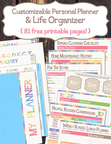 printable personal planner organizer moving organization fruitful fellowship