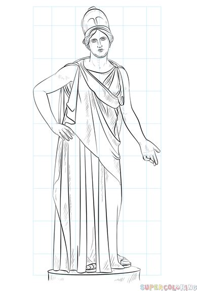 How To Draw Athena Goddess how to draw athena goddess step by step drawing