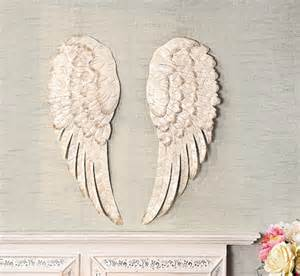 Wings Wall Decor by White Metal Wing Wall Decor Set Of 2 Ebay