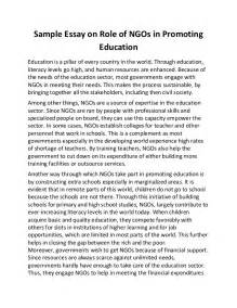 In The Country Of Essay by Sle Essay On Of Ng Os In Promoting Education