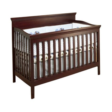 Sorelle Katherine 4 In 1 Convertible Wood Crib In Merlot Wood Convertible Cribs