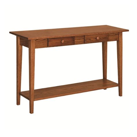 Shaker Style Sofa Table by Shaker Sofa Table With Shelf Amish Shaker Sofa Table