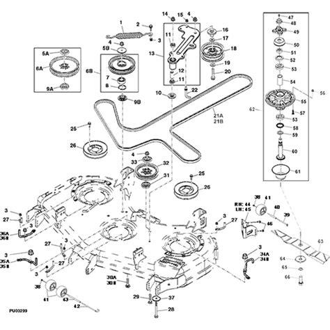 deere la115 belt diagram motor wiring deere z900a series commercial 60 mower