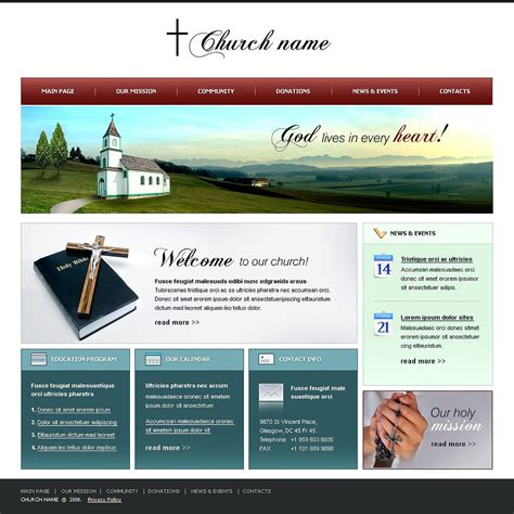 Christian Website Template 20309 Free Christian Website Templates