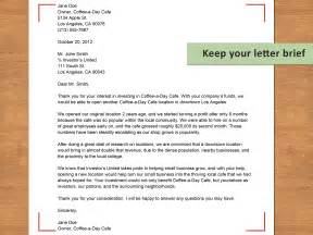 how to write an investor letter with sle letter