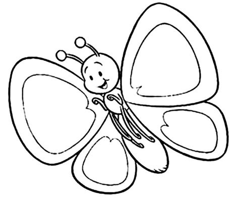 cartoon butterfly coloring pages unicoloring clipart