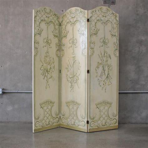 Vintage Painted Tri Fold Room Vintage Painted Tri Fold Room Divider Dressing
