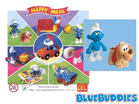 Mcdonalds Happy Meal Smurfs Tlv Blue House puppy