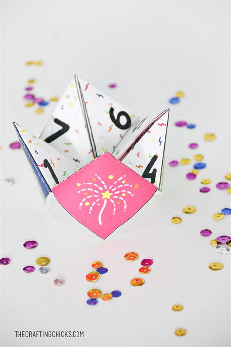 new year fortune new years fortune teller printables the crafting