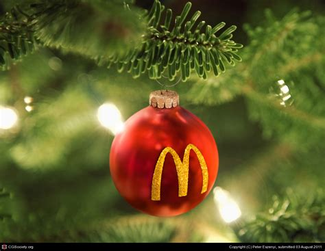 christmas ornament for mcdonald s by peter eszenyi 3d