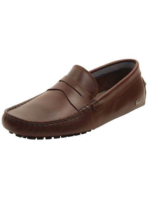lacoste brown loafers lacoste mens concours 19 loafers in brown