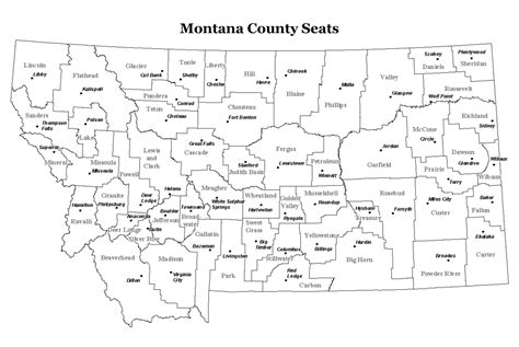 montana county map montana maps