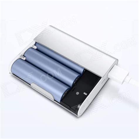 Xiaomi Powerbank 10400mah Silver xiaomi 10400mah usb mobile power bank w 4 led indicator silver white free shipping dealextreme