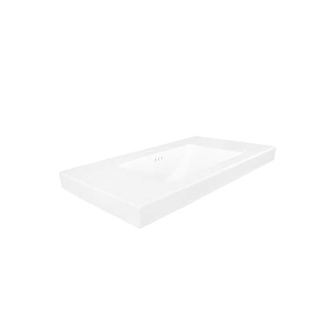 Ronbow Vanity Top by Ronbow Evin 36 25 In W Ceramic Vanity Top In White With