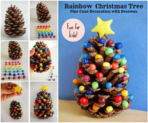 How To Decorate Christmas Tree At Home by 40 Creative Pinecone Crafts For Your Holiday Decorations