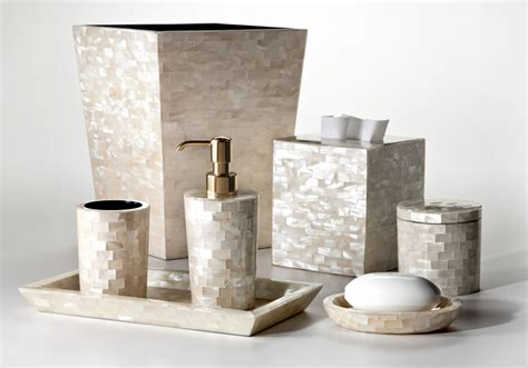 of pearl bathroom accessories creation gems