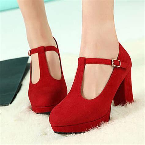 chunky heel high heels chunky t bar heels is heel