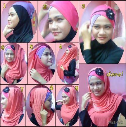 tutorial jilbab headband cara memakai jilbab pashmina dengan headband tutorial hijab